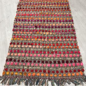 Jute Cotton Recycled Area Rug 90cm x 150cm